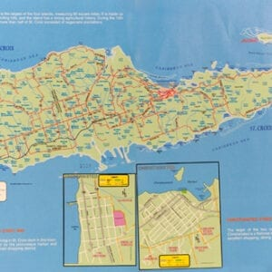 Map of Saint Croix, U.S. Virgin Islands